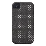 Elegant black and white pin dot dots iPhone 4S 4 Case-Mate iPhone 4 Case