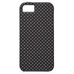 Elegant black and white polka pin dot dots pattern iPhone 5 case