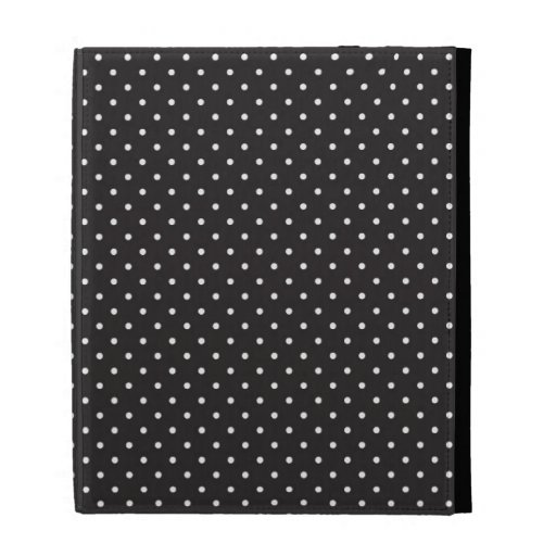 Elegant black and white polka pin dot dots pattern iPad folio cases
