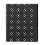 Elegant black and white polka pin dot dots pattern iPad case