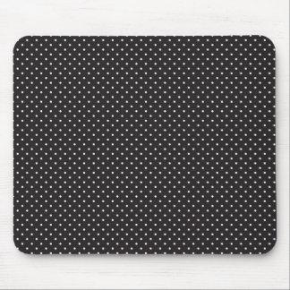 Elegant black and white polka pin dot dots pattern mouse pad