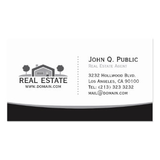 Elegant Black and White Real Estate Double-Sided Standard Business Cards (Pack Of 100)