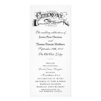 Elegant Black And White Wedding Ceremony Programs