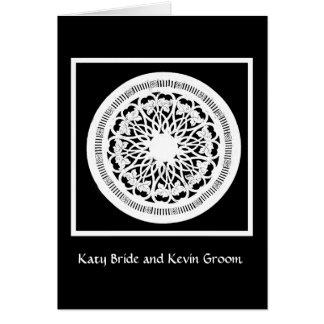Elegant Black and White wedding invitation