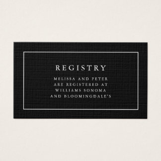Wedding Registry Insert Business Cards Templates Zazzle