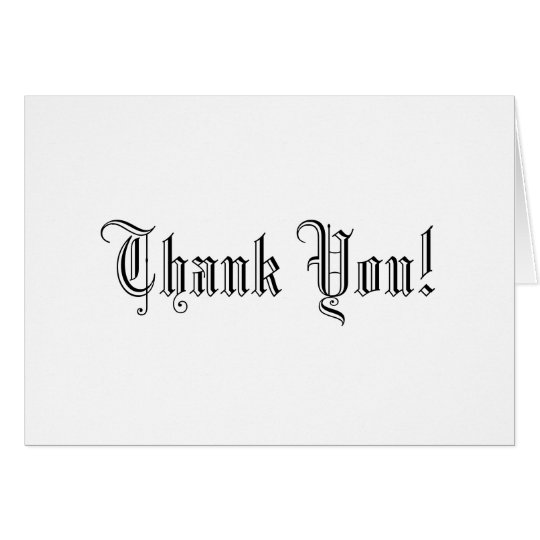 Elegant Black and White Wedding Thank You! Cards