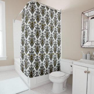 Elegant Black Damask Shower Curtains Zazzle