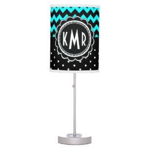 Black White Polka Dot Table Amp Pendant Lamps Zazzle