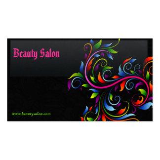 Elegant Black Beauty Salon Business Card