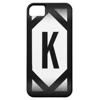 Elegant Black Border Monogram iPhone 5 Case