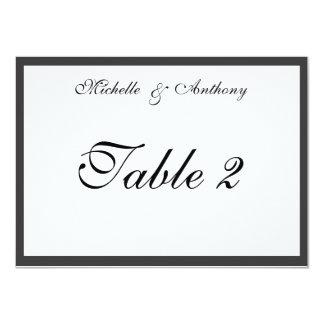 Elegant Black Border Reception Table Card Custom Invitations