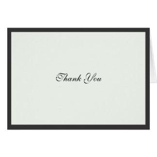 Elegant Black Border Thank You Note Card