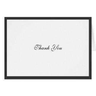 Elegant Black Border Thank You Note Card