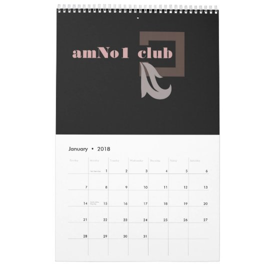 Elegant Black Calendar