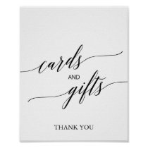 Elegant Black Calligraphy Cards and Gifts Sign