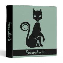 Elegant Black Cat Binder