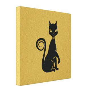 Elegant Black Cat Canvas Print