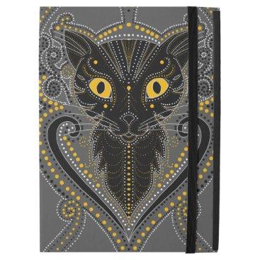 Halloween Themed Elegant black cat iPad Pro cover