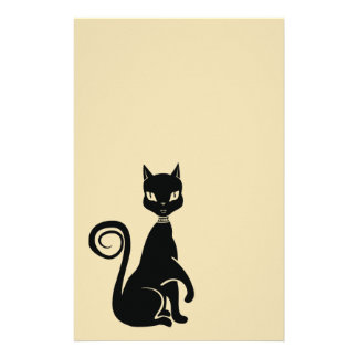 Elegant Black Cat Scrabook paper
