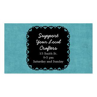 Elegant Black Chalkboard Craft Show Business Card