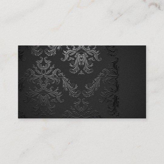 Elegant black damask business card template zazzle elegant black damask business card template fbccfo Choice Image