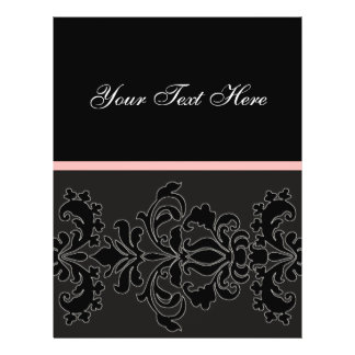 Elegant Black DAMASK Flyer