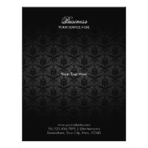 Elegant Black Damask Hair & Beauty Salon Brochures