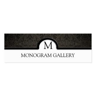 Elegant Black Damask Interior Decorator Double-Sided Mini Business Cards (Pack Of 20)