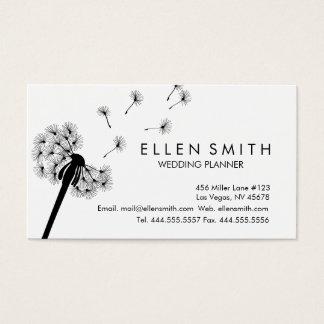 Elegant Black Dandelion Business Card