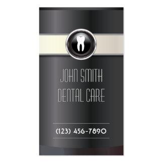 Elegant Black Dental Care Business Card