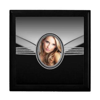 Elegant Black Diamond Photo Keepsake Gift Box