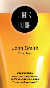 Liquor store business cards templates zazzle elegant black dot liquor storebar business card colourmoves