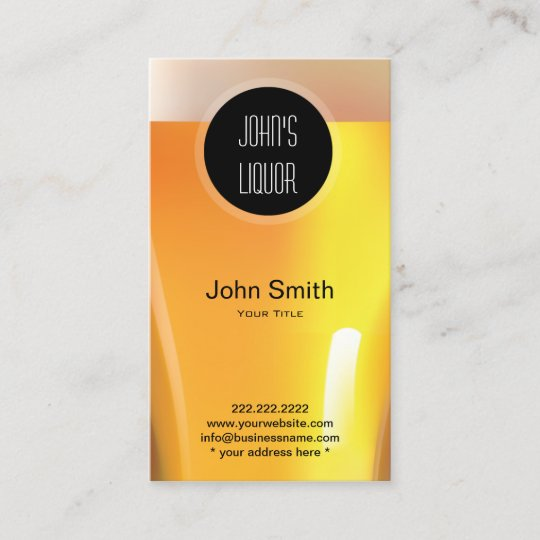 Elegant black dot liquor storebar business card zazzle elegant black dot liquor storebar business card colourmoves