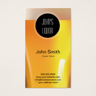 Elegant Black Dot Liquor Store/Bar Business Card