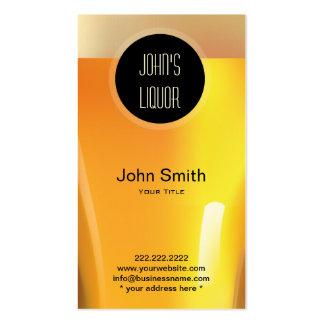 Elegant Black Dot Liquor Store/Bar Business Card