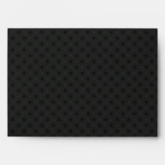 Elegant Black Envelope - A7 Greeting Card
