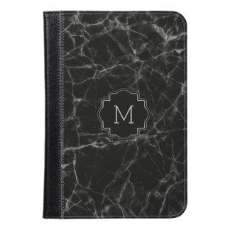 Elegant Black Faux Marble Stone MF003