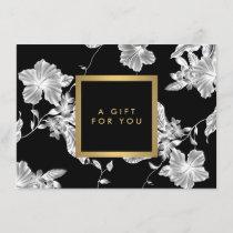 Elegant Black Floral Pattern 3 Gift Certificate