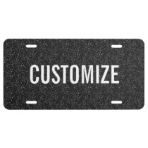 Elegant Black Glitter Pattern License Plate