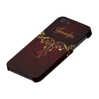 Elegant Black & God 2 Vintage Lace Frame Cover For iPhone SE/5/5s