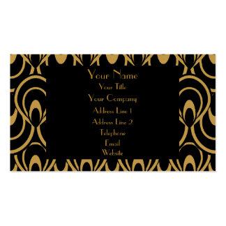 Elegant Black & Gold Art Deco Design Luxury Linen Business Cards