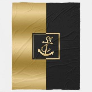 Elegant Black & Gold Boat Anchor Modern Design