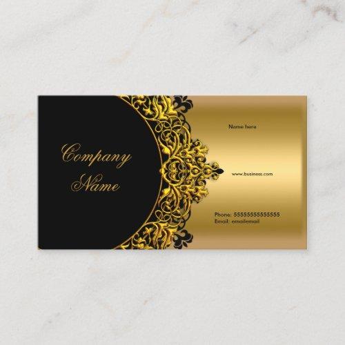 Elegant Black Gold Boutique Business Card