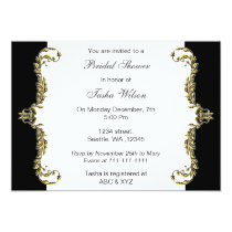 Elegant black gold Bridal Shower Invites