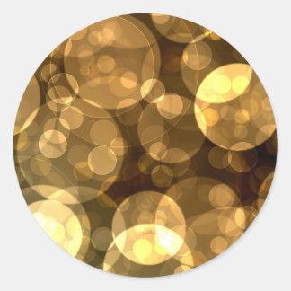 Elegant Black Gold Bubble Stickers