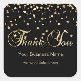 Elegant Black Gold Business Thank You Seals