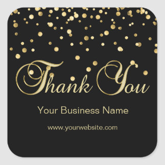Elegant Black Gold Business Thank You Seals