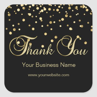 Professional Business Elegant Black Gold Business Thank You Seals