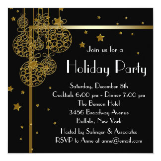 Elegant Christmas Party Invitations & Announcements | Zazzle