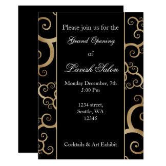 Elegant Black Gold Corporate party Invitation